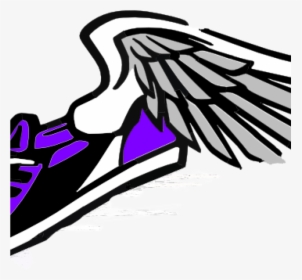 Track Shoe Wings Clipart And Field Running Shoes Black.