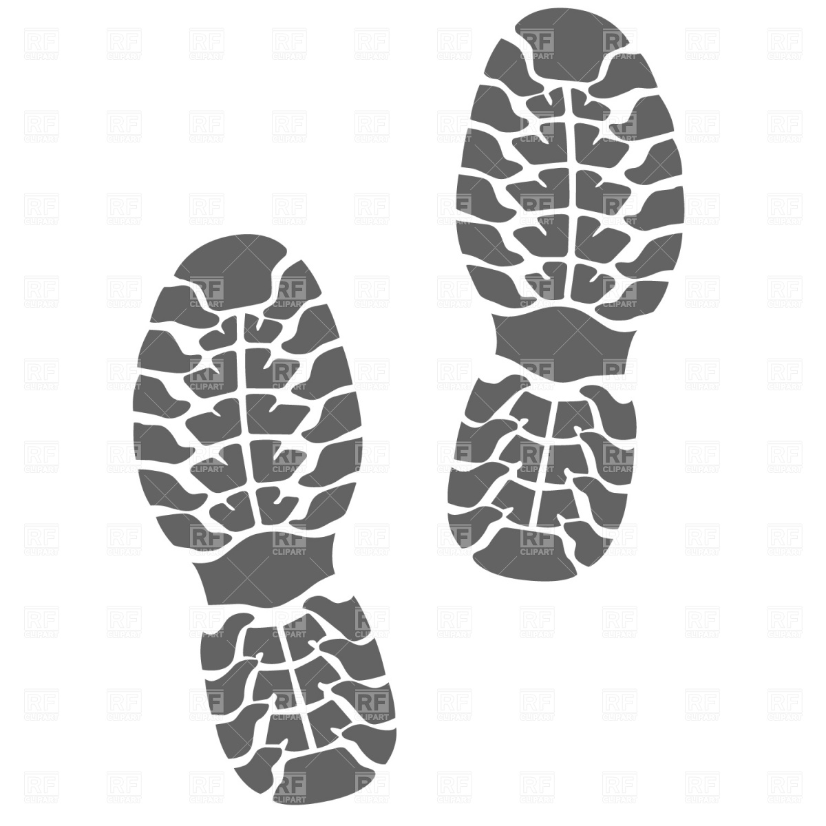 13 Shoe Print Vector Art Images.