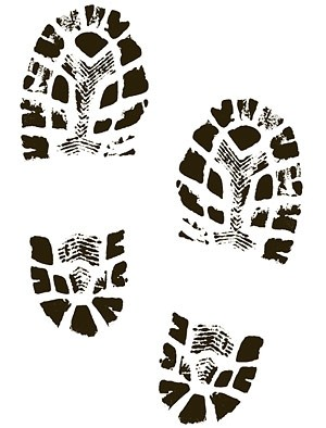 Running Shoe Print Clipart.