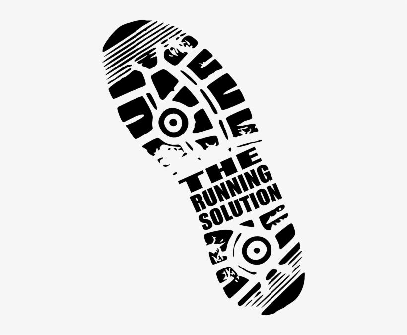 Drawing Footprints Running Shoe.