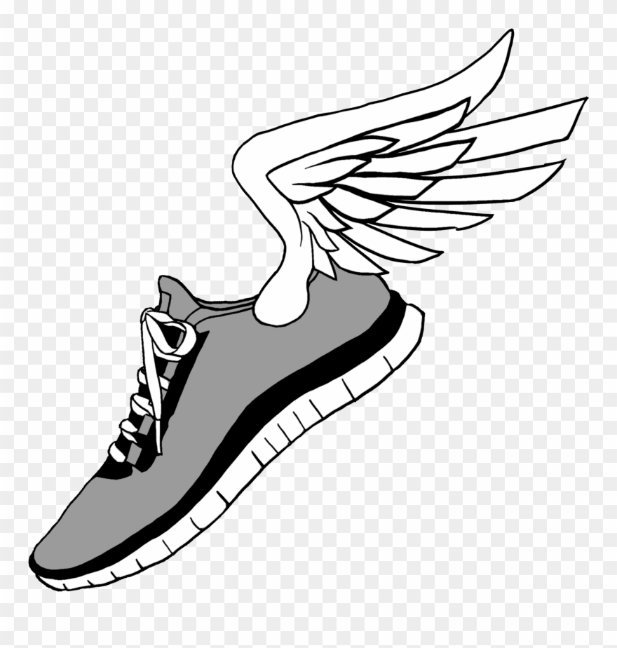 Running Shoes Clip Art.
