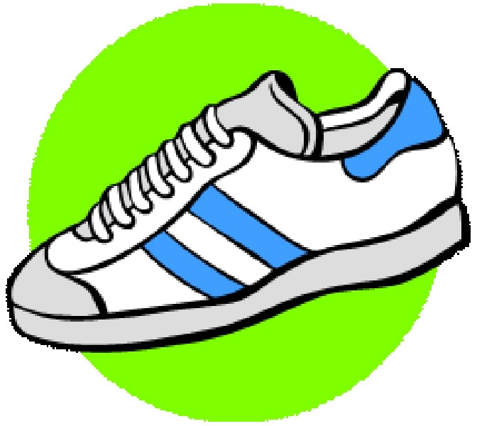 Shoes running shoes clipart clip art shoe 3.