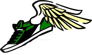 Running Shoe With Wings Clip Art at Clker.com.