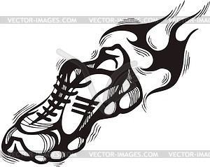 running shoe clipart.