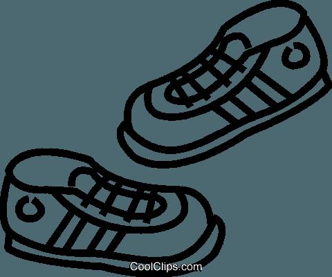 running shoes Royalty Free Vector Clip Art illustration.