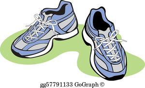 Running Shoes Clip Art.