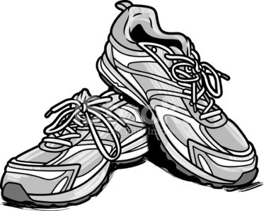 Running Shoes Clipart Image.