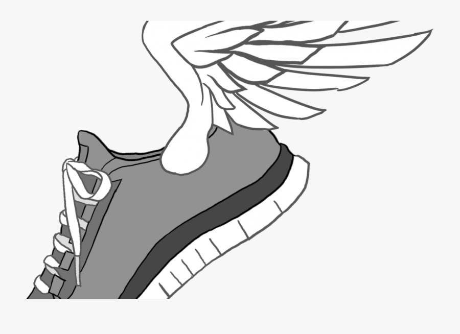 Running Shoe With Wings.