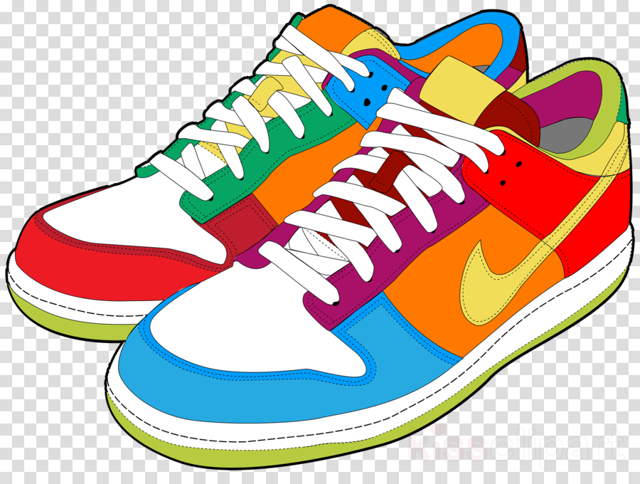 shoe footwear walking shoe running shoe sneakers clipart.