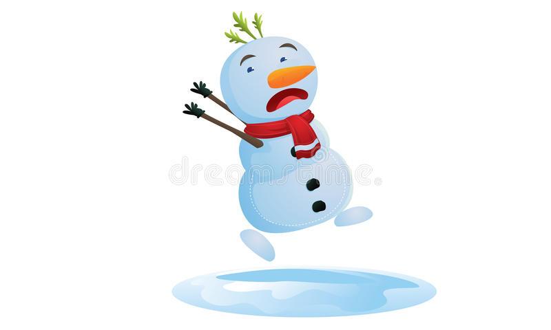 Running Snowman Clipart.