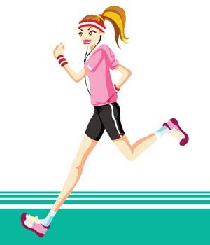 Sports running clipart.