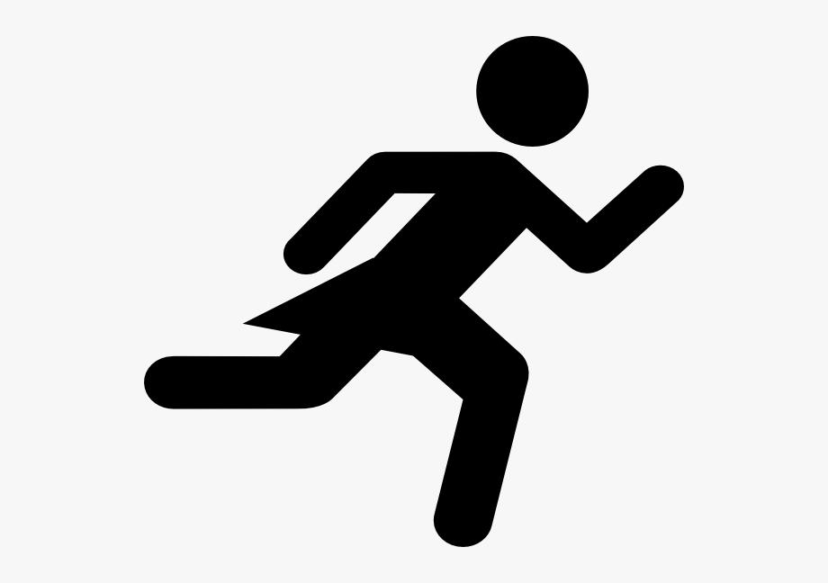 Runner Girl Stick Figure Clip Art.