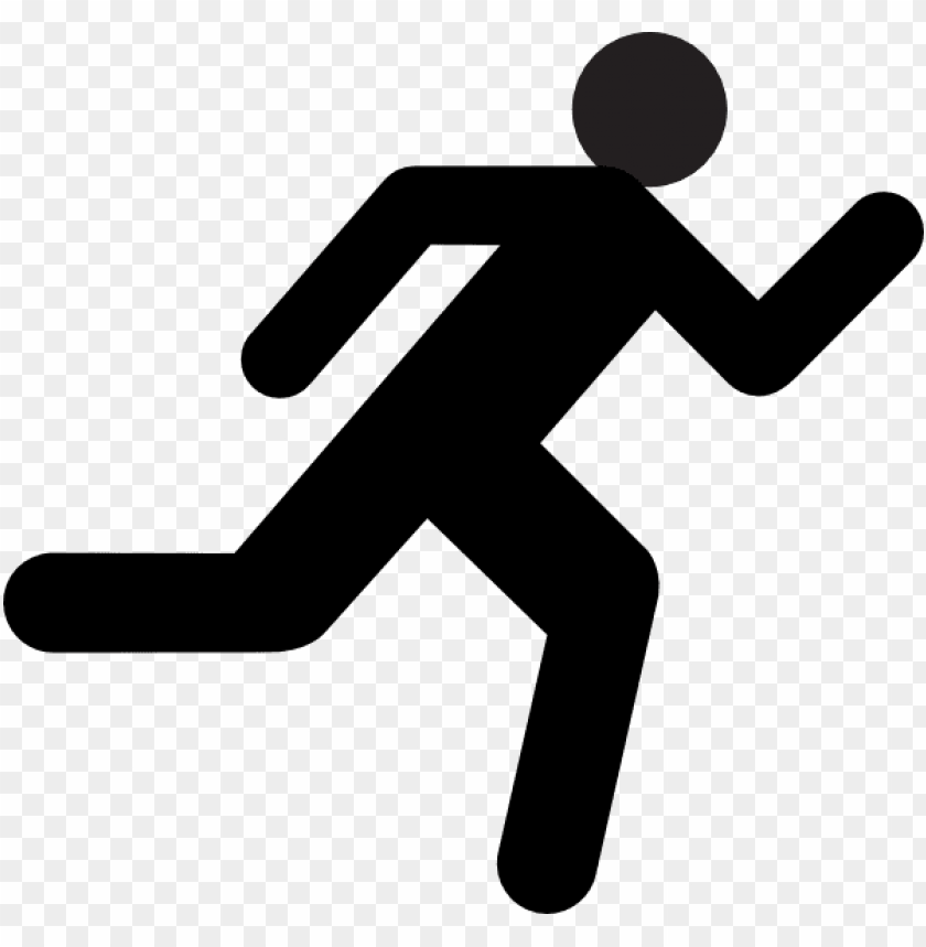 small medium large running stick figure png.