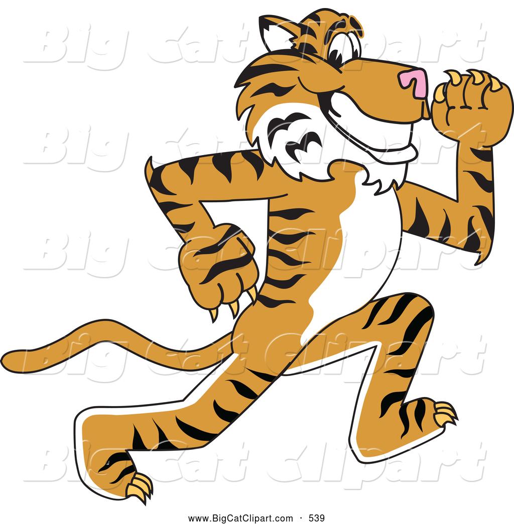 Cartoon Tiger Running.