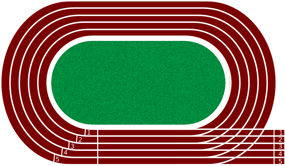 Free Vector Graphic: Running Track Running Track Run.