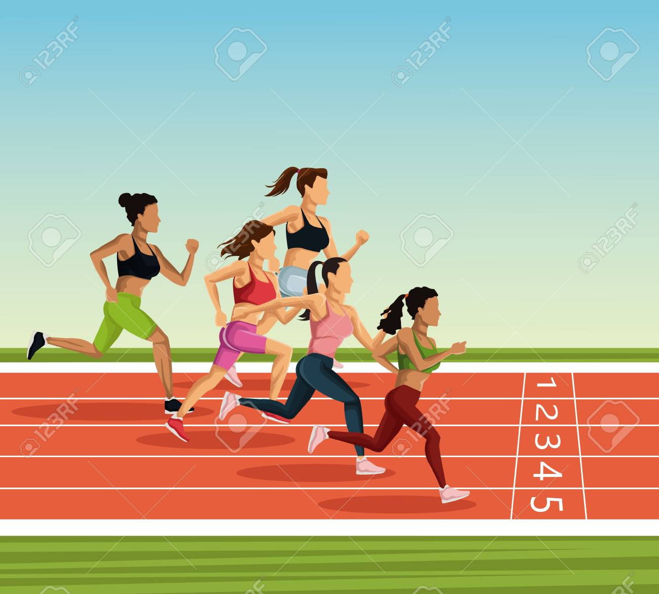 People Running Track Clipart & Free Clip Art Images #25445.