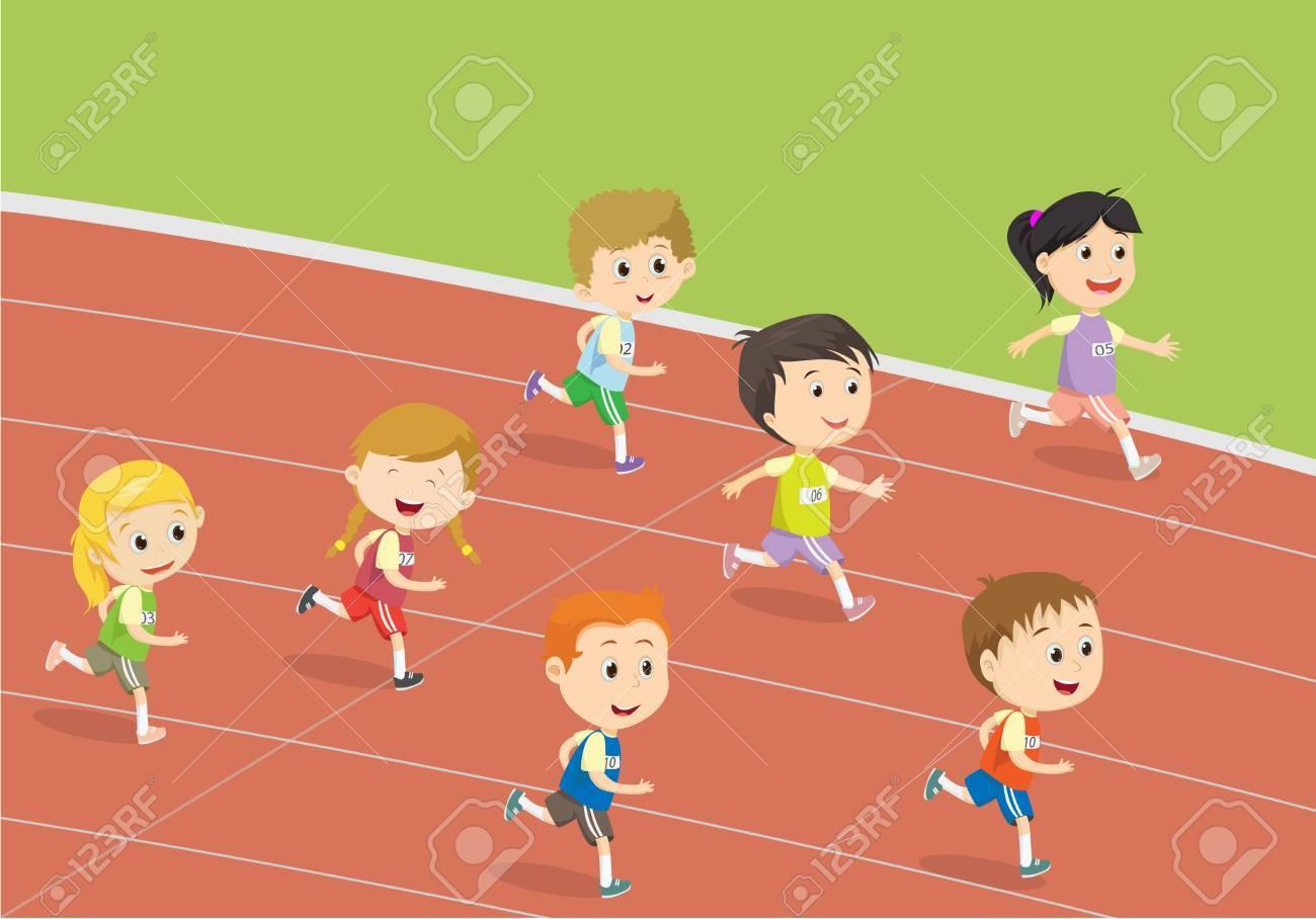 Kids running track clipart 2 » Clipart Portal.