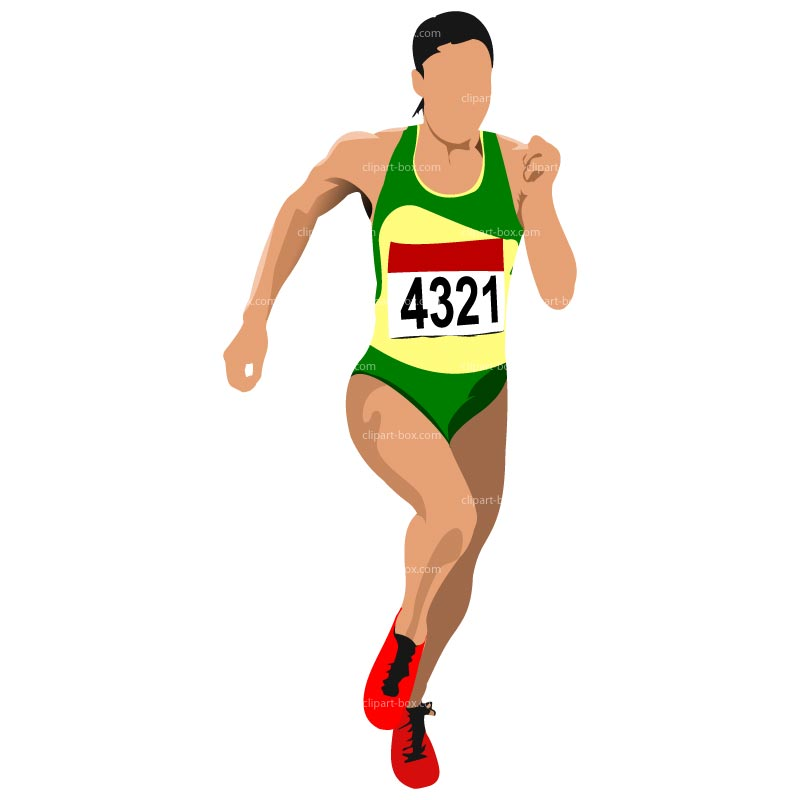 CLIPART ATHLET RUNNING.