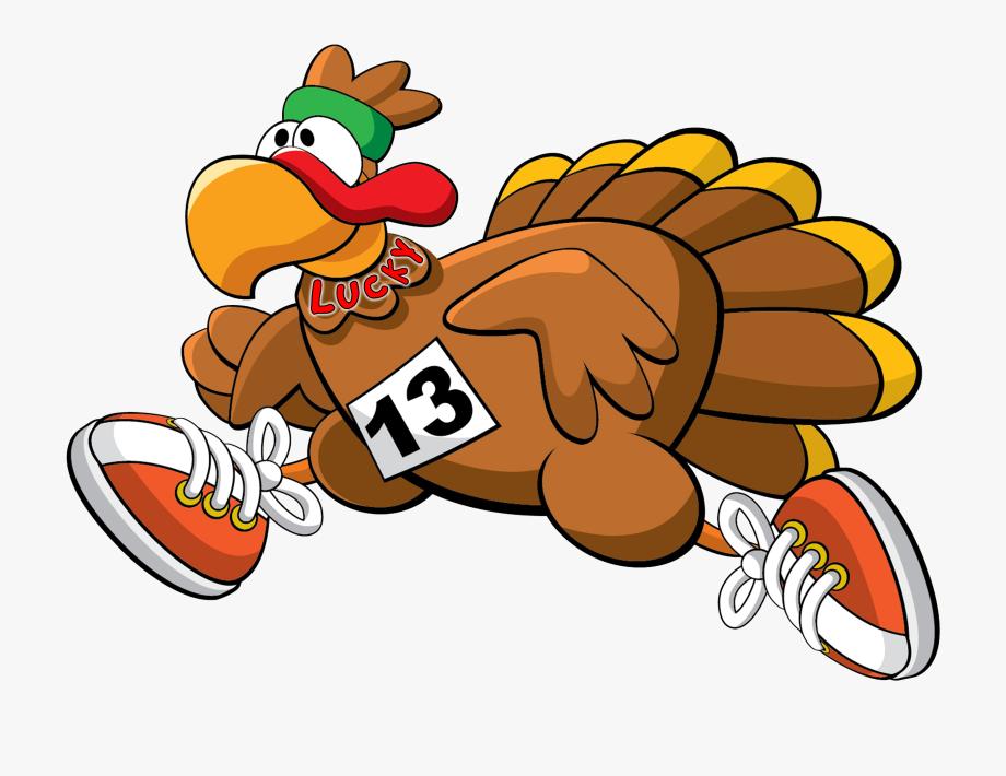 Running Turkey Clipart.