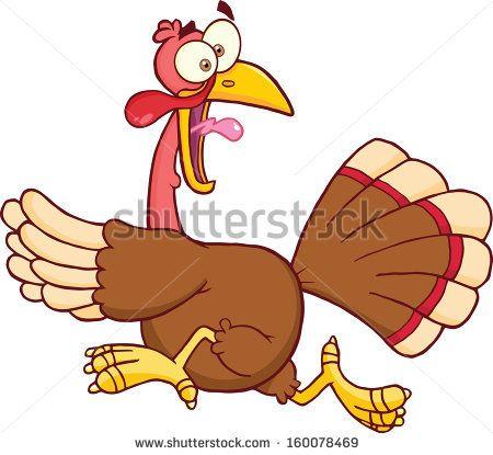 running away turkey clip art.