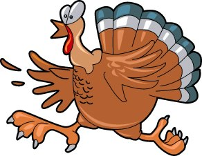 Running Turkey Clipart.