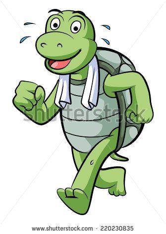 running turtle.
