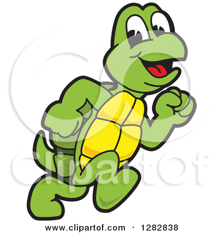 Turtle Running Clipart.