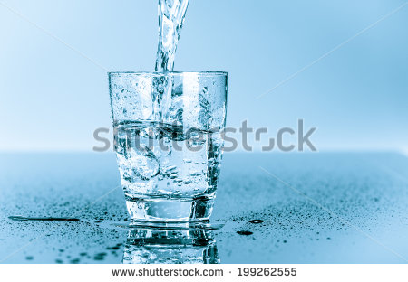 running water into a glass clipart #2