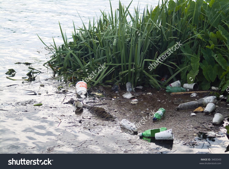 Litter Runoff After Big Rainstorm Polluting Stock Photo 3403343.