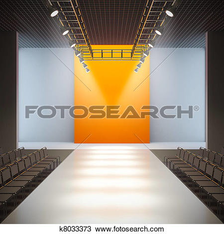 Clipart of empty fashion runway k4677441.