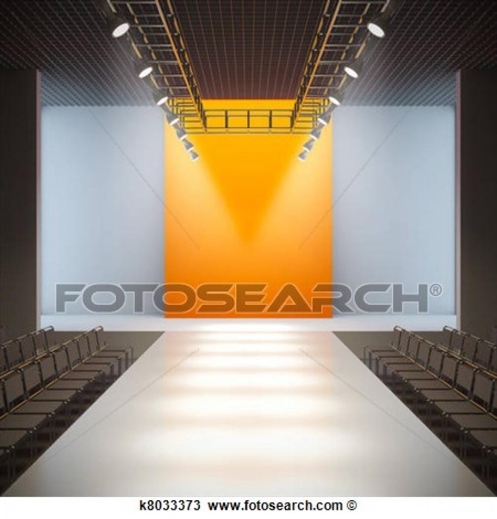 drawing of fashion empty runway k8033373 search clipart regarding.