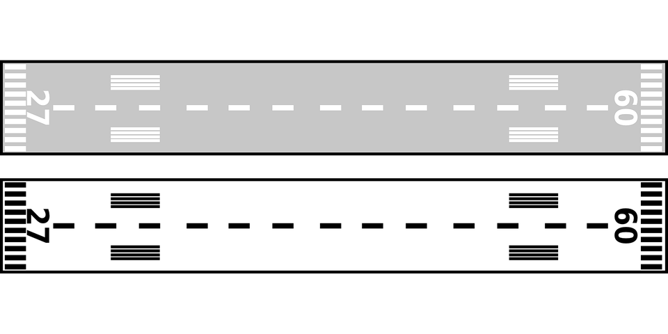 Free vector graphic: Airport, Runway, Grey, Asphalt.