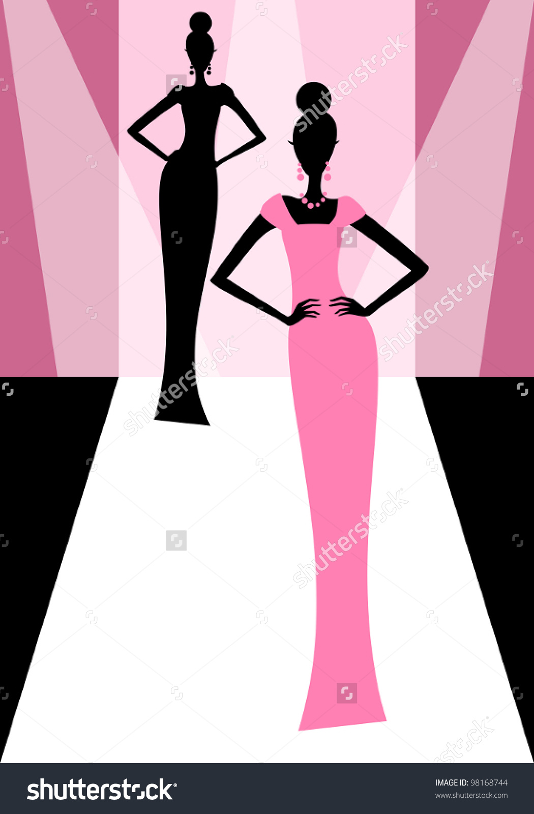 Runway fashion clipart 3 » Clipart Station.