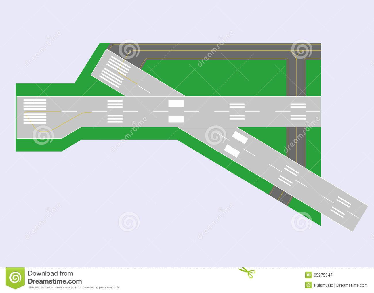 Clipart airport runway.