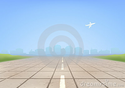 Aviation runway clipart perspective.