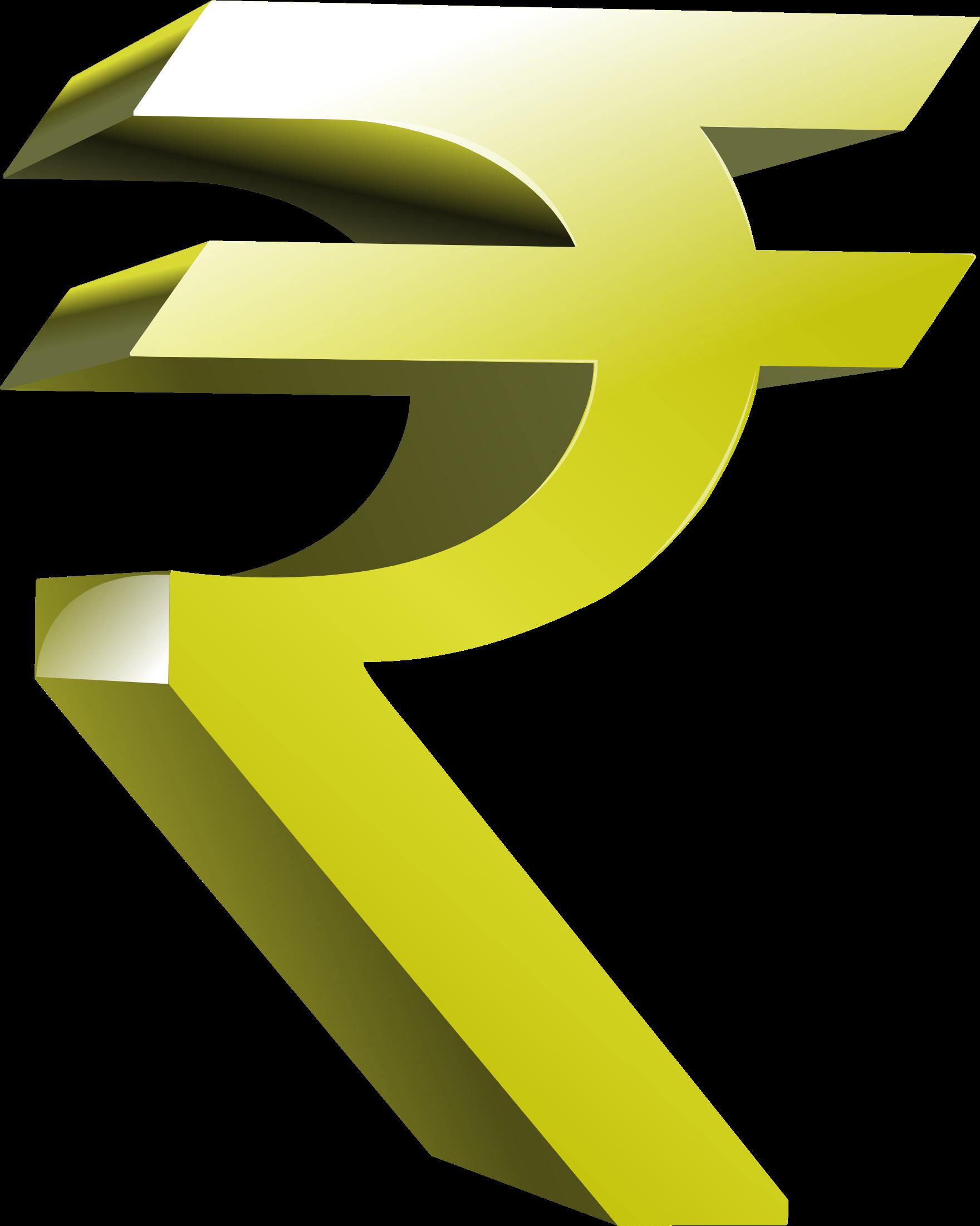 Clipart rupee symbol.