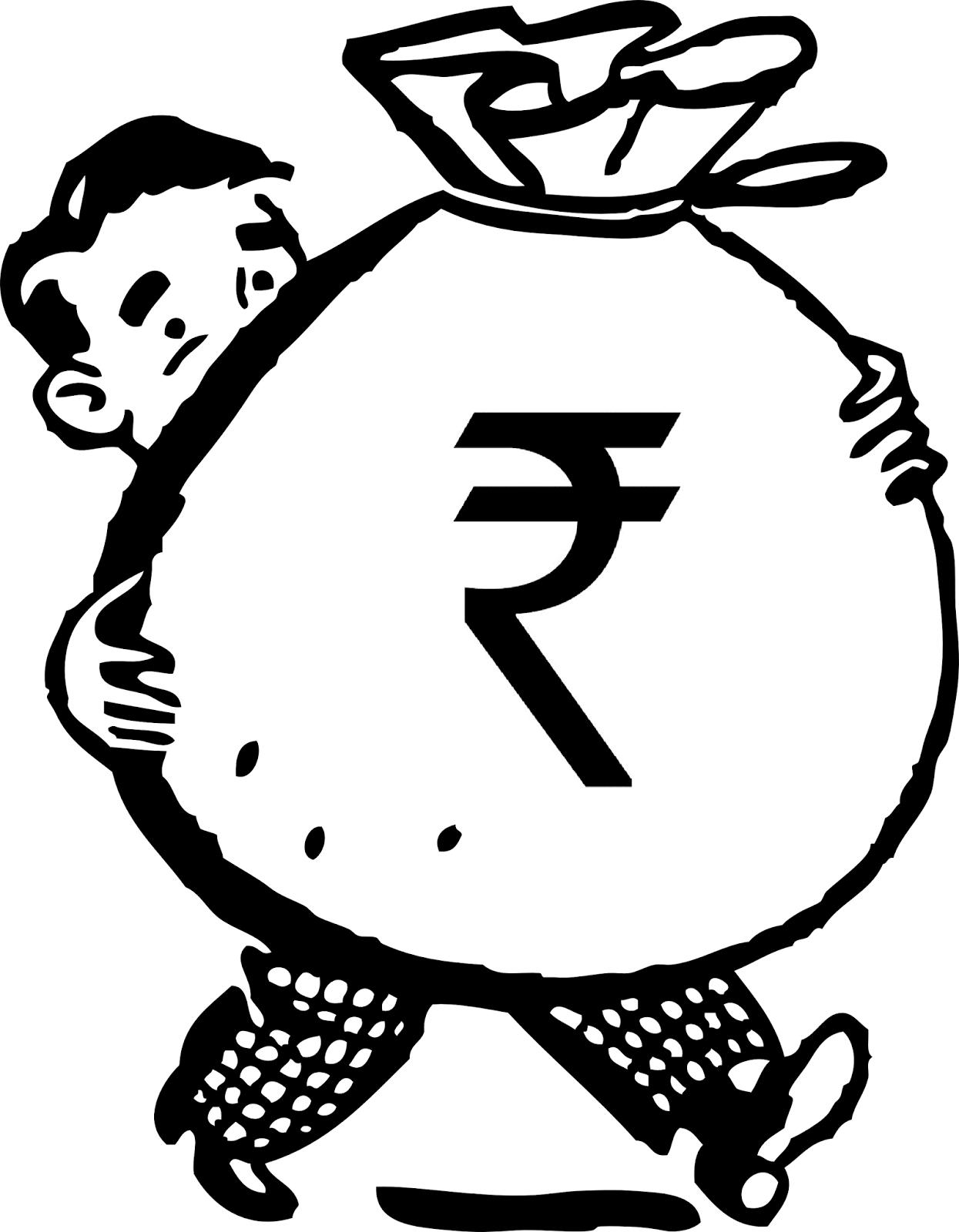 Rupee clipart.