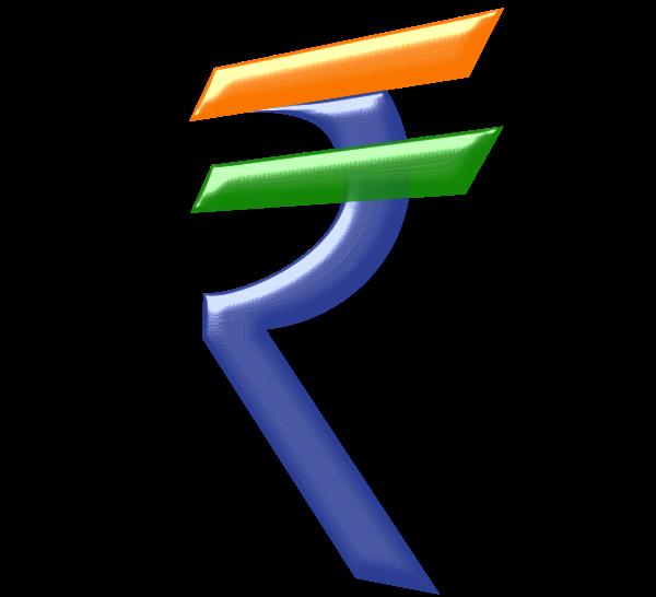 Indian rupees SVG Vector file, vector clip art svg file.