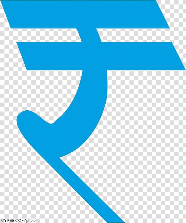 Blue rupee symbol illustration, Indian rupee sign Symbol.