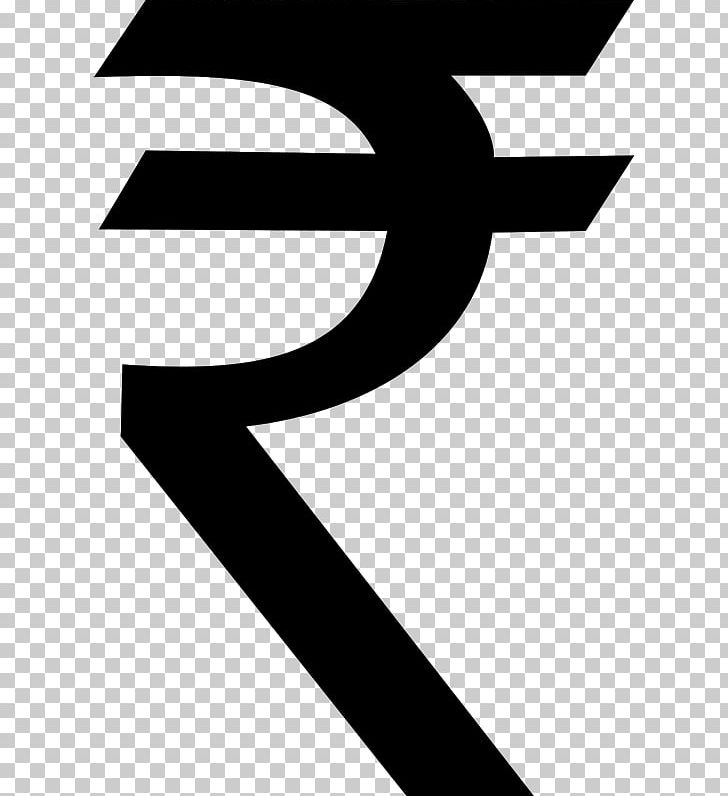 Indian Rupee Sign PNG, Clipart, Angle, Black, Black And.
