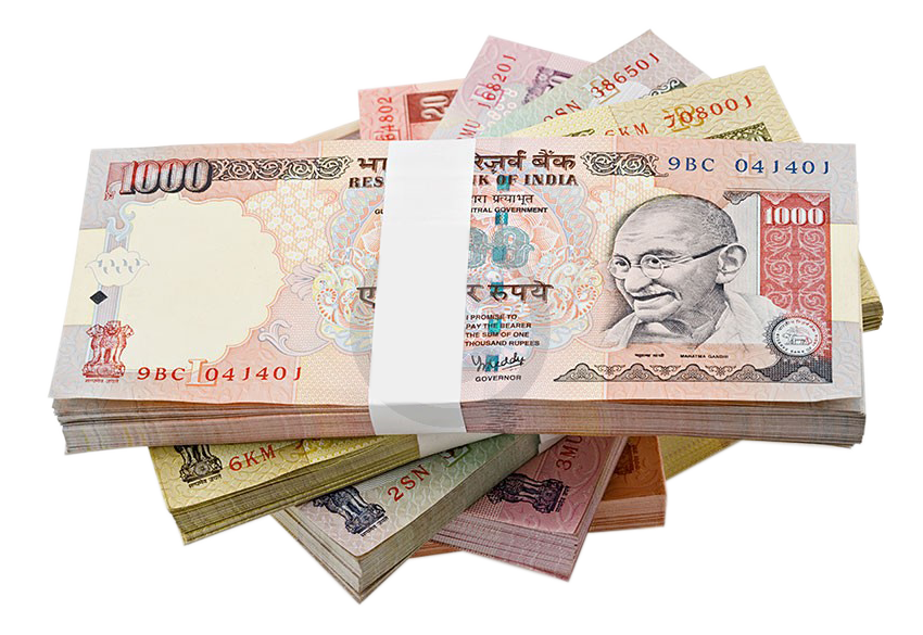 Indian rupee clipart.