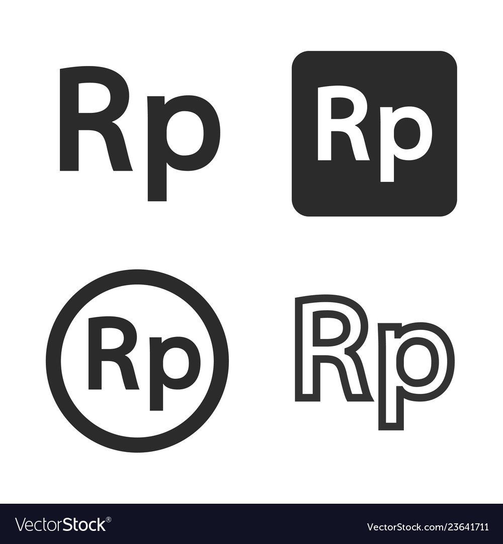 Rupiah currency symbol set.