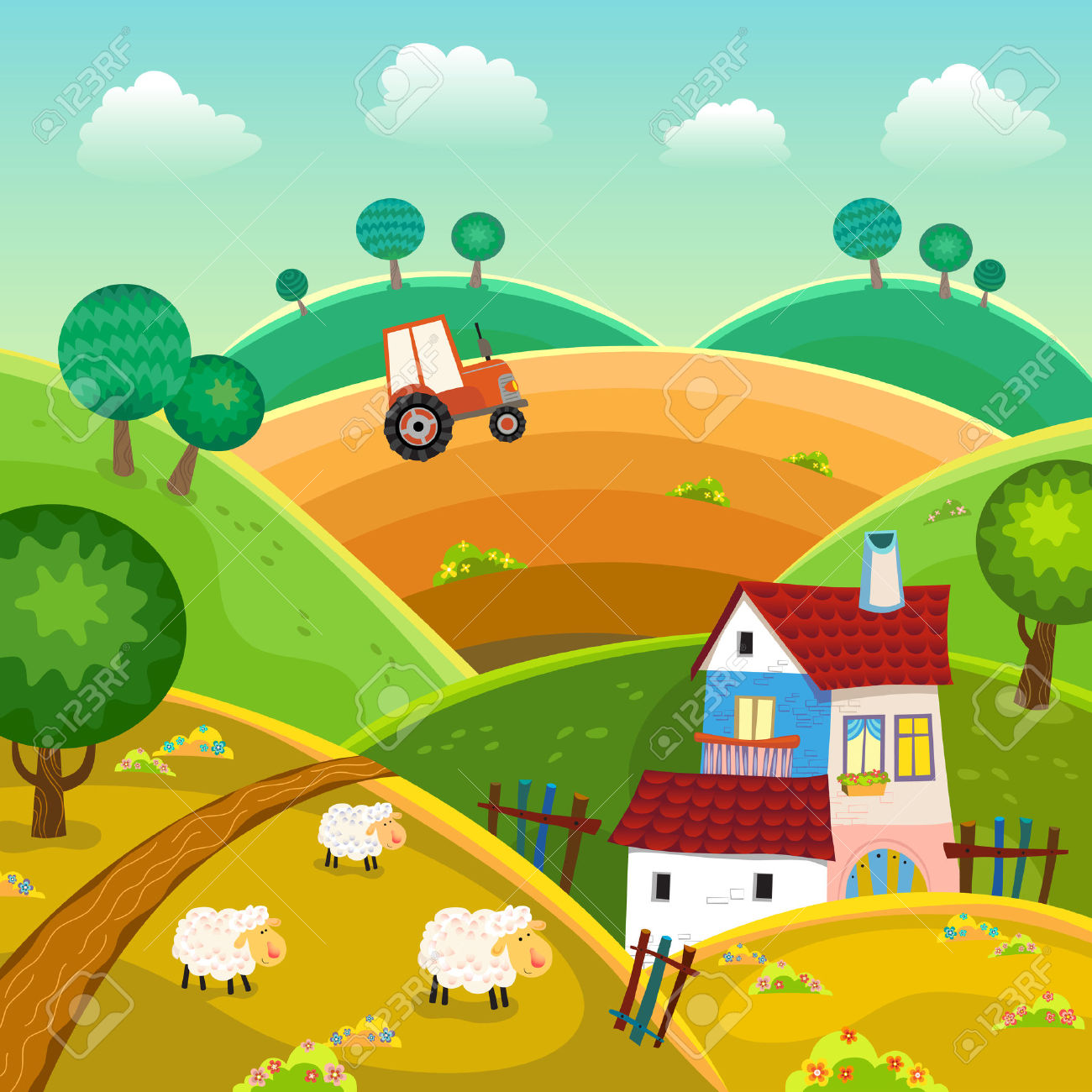 Rural clipart » Clipart Station.