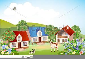 Rural Community Clipart.