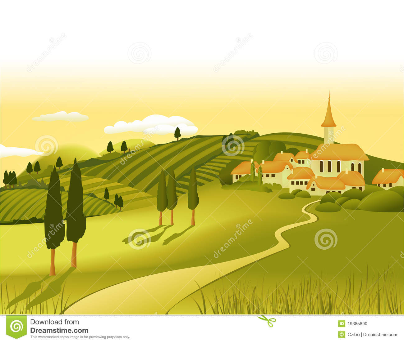 Town And Country Toyota >> Rural landscape clipart - Clipground