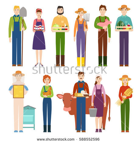 Agricultural Workers Stock Vectors, Images & Vector Art.