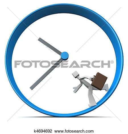 Clip Art of Business men rush hour concept k4694692.