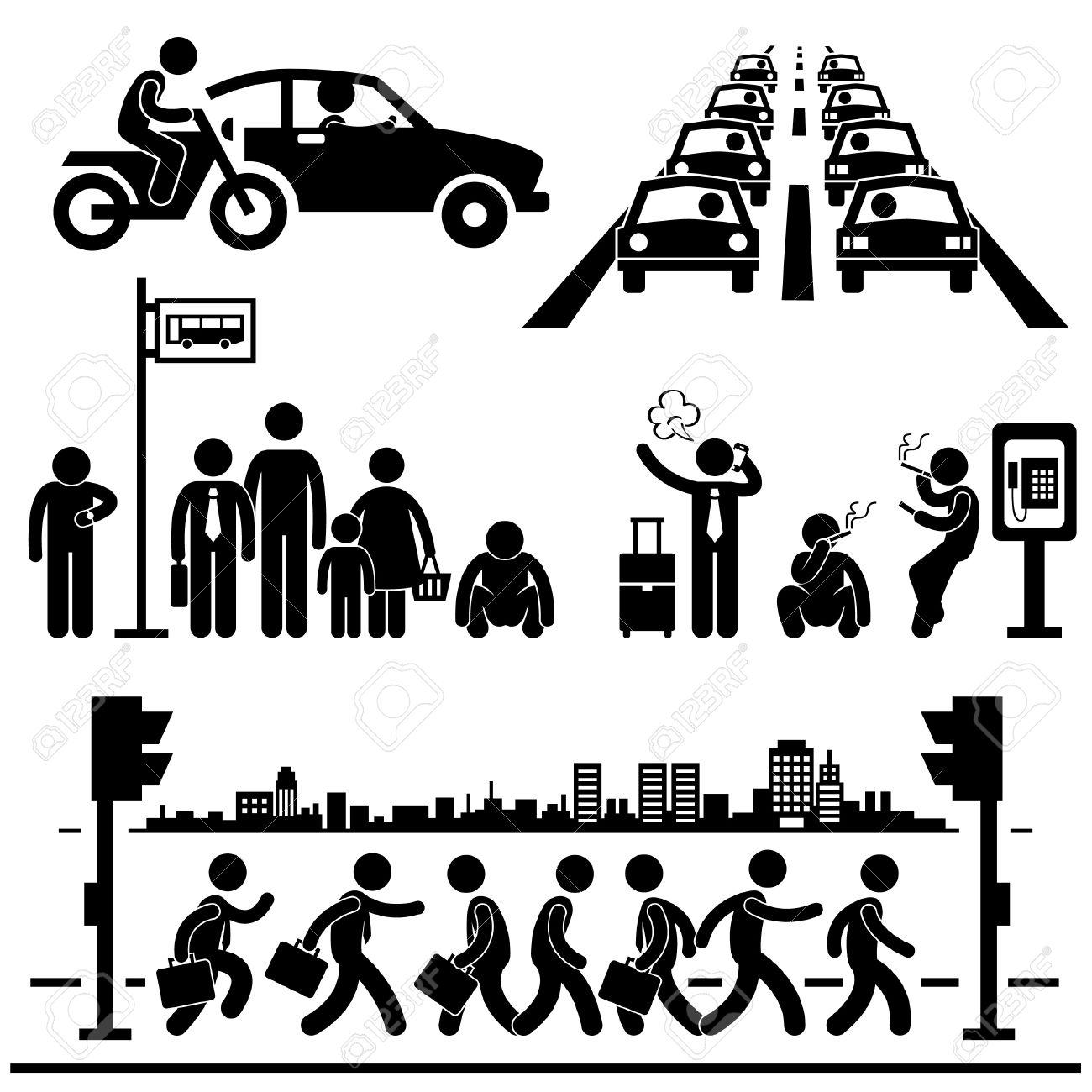 Rush Hour Traffic Clip Art.