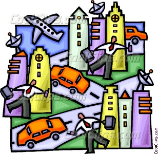Rush Hour In The City Vector Clip Art #pA0lEO.