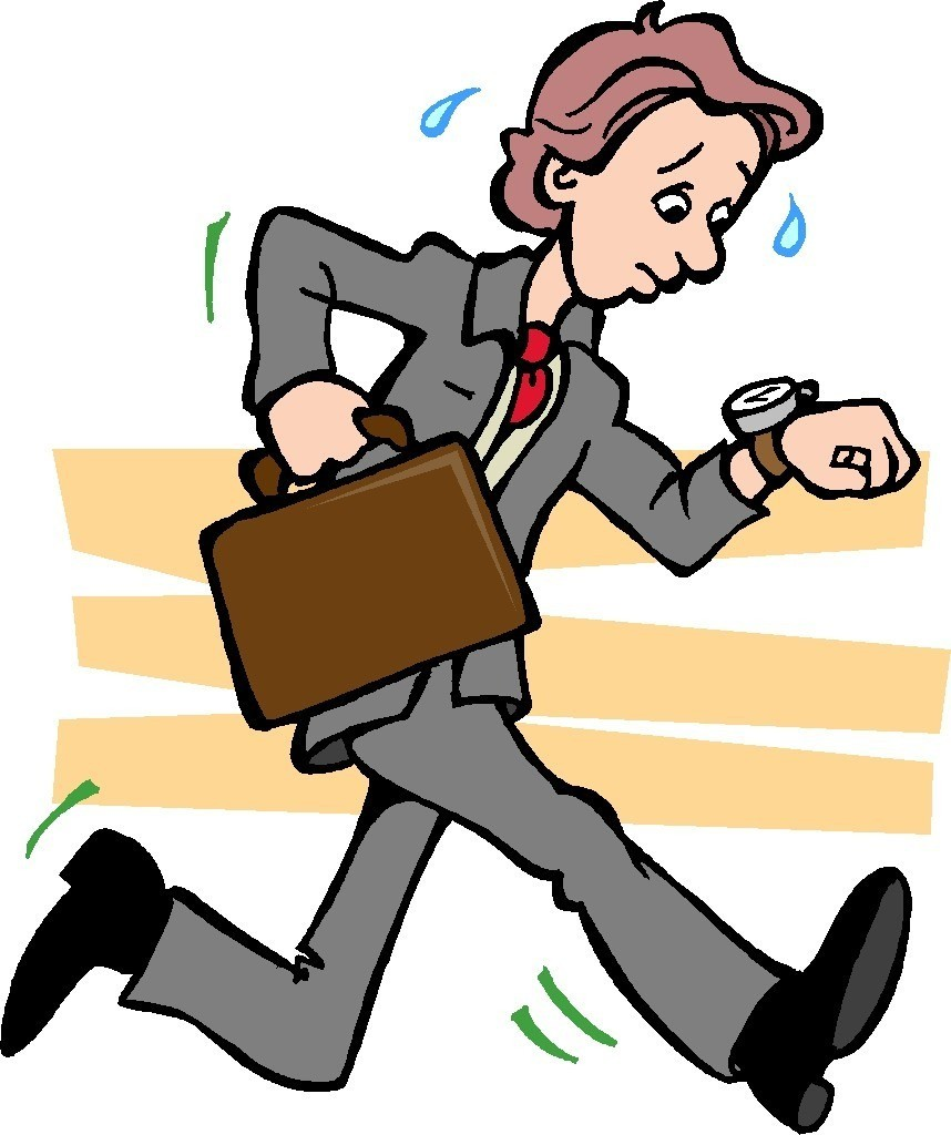 Man Rushing Clipart.